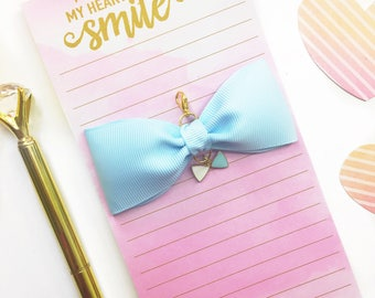 Light Blue Planner Charm/ Planner Charm / Bow Planner Charm