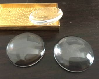 22MM---wholesale 100pieces Round clear glass cabochon