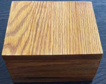 Wooden box with felt lining