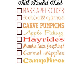 Fall svg-Fall Bucket List svg-Hello Fall svg-autumn svg -Commercial Use--Instant Download-SVG-Digital Download-Printable-Cricut-Silhouette