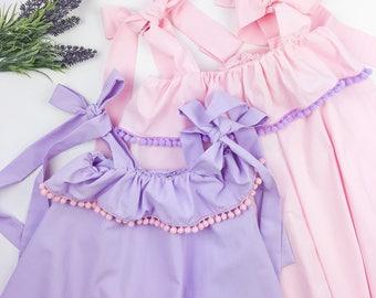 Summer Dress, girls dress, pink dress, blue summer dress, white dress, lavender dress, sundress, girls clothing, kids apparel, girls garment