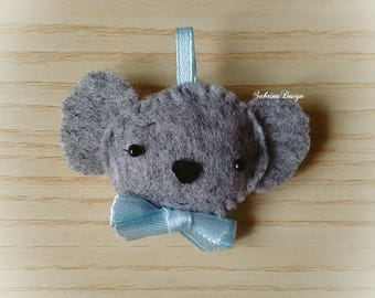 Koala felt boy favor baby shower baptism favors birthday favors koala pendant felt keychain