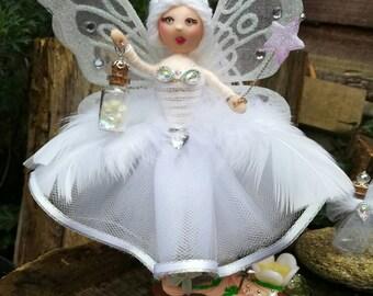 White FAIRY BALLERINA ornamental Tooth Fairy doll Odette WDC009 Swan lake Swan princess