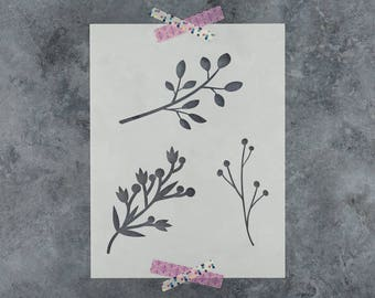 Tree Branches Stencil - Reusable DIY Craft Stencils of a Tree Branches