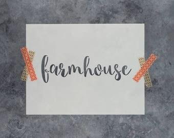 Farmhouse Stencil - Reusable DIY Craft Stencils of a Farmouse Sign