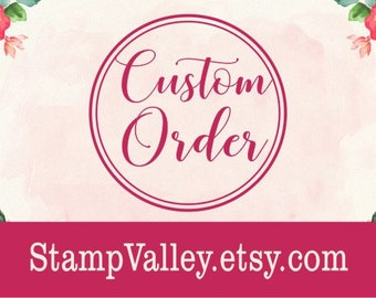 "2"" wood handle rubber stamp - custom round rubber stamp"