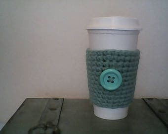 Teal Slip-On Cup Cozy