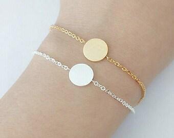 Emma silver plated bracelet round shape jewelry, chic woman modern trendy