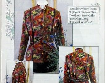Oaxacan Miss Shirt Free Shipping  Shirt Club Pattern  SIze S to XL  Brensan Studio  Sewing Pattern Uncut