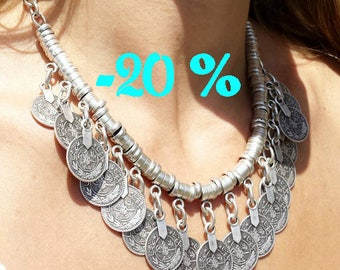 SUMMER SALE / / / Babylon necklace in silver / / / Gypsy / Boho style