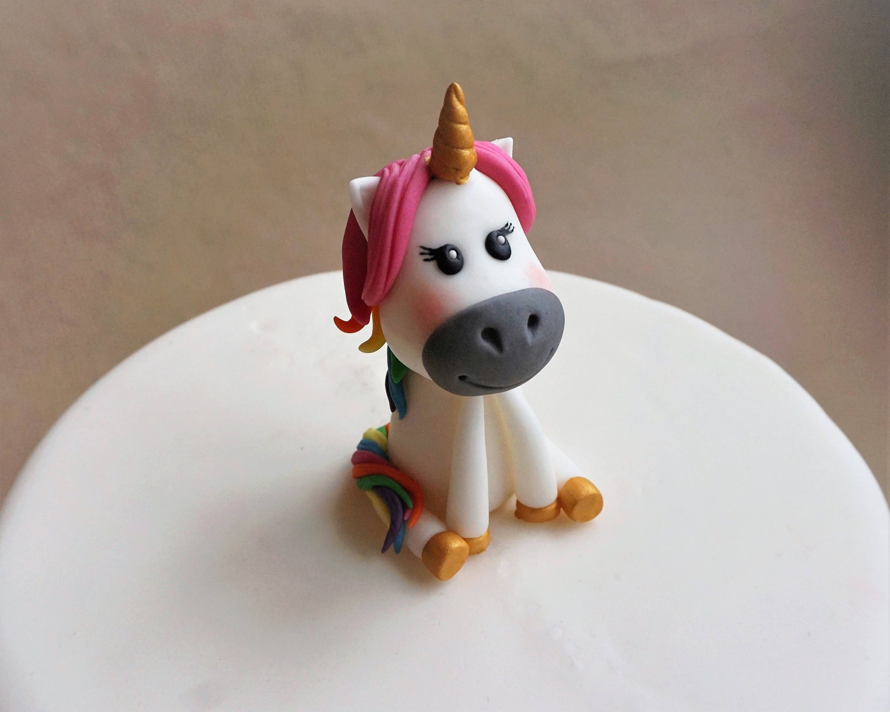 unicorn horse wedding cake topper fondant unicorn cake topper cake topper rainbow 21417