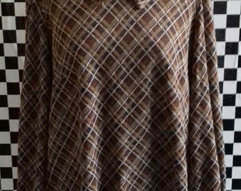 Vintage handmade brown 70's  jumper - M/L