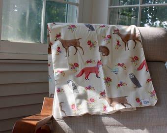 Woodland Infant Swaddle Blanket