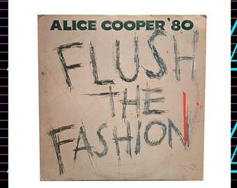 Alice Cooper - Flush the Fashion LP Record, 1980 Vintage Vinyl Record Album, rock, hard rock, new wave