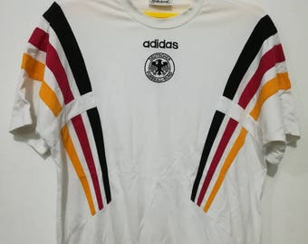 Rare vintage Germany Adidas embroidered logo t-shirt L size