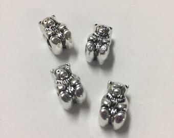 Aoduola Teddy bear charms for charm bracelets