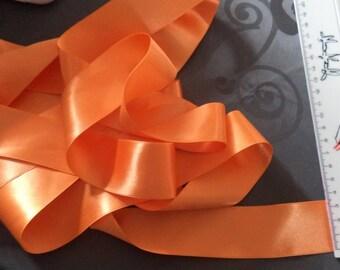 satin ribbon double sided Orange width 3.5 cm new for halloween