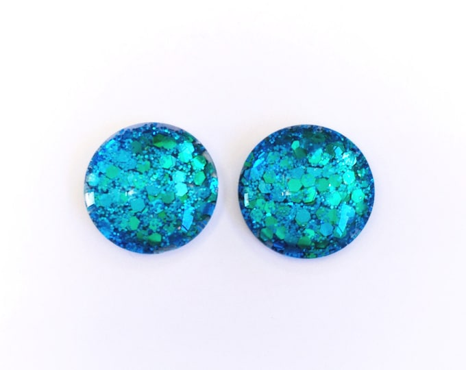 The 'Icon' Glass Glitter Earring Studs