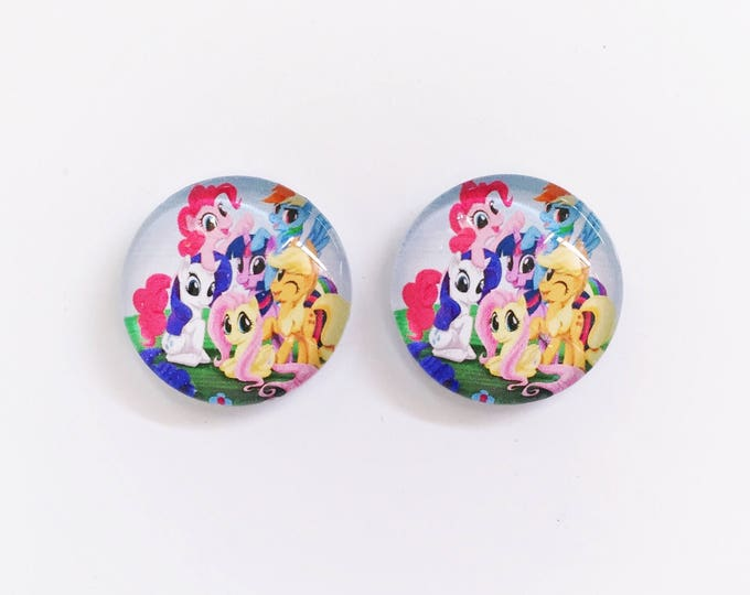 The 'My Little Pony' Glass Earring Studs