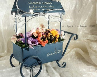 The Lighted-Up Flower Cart