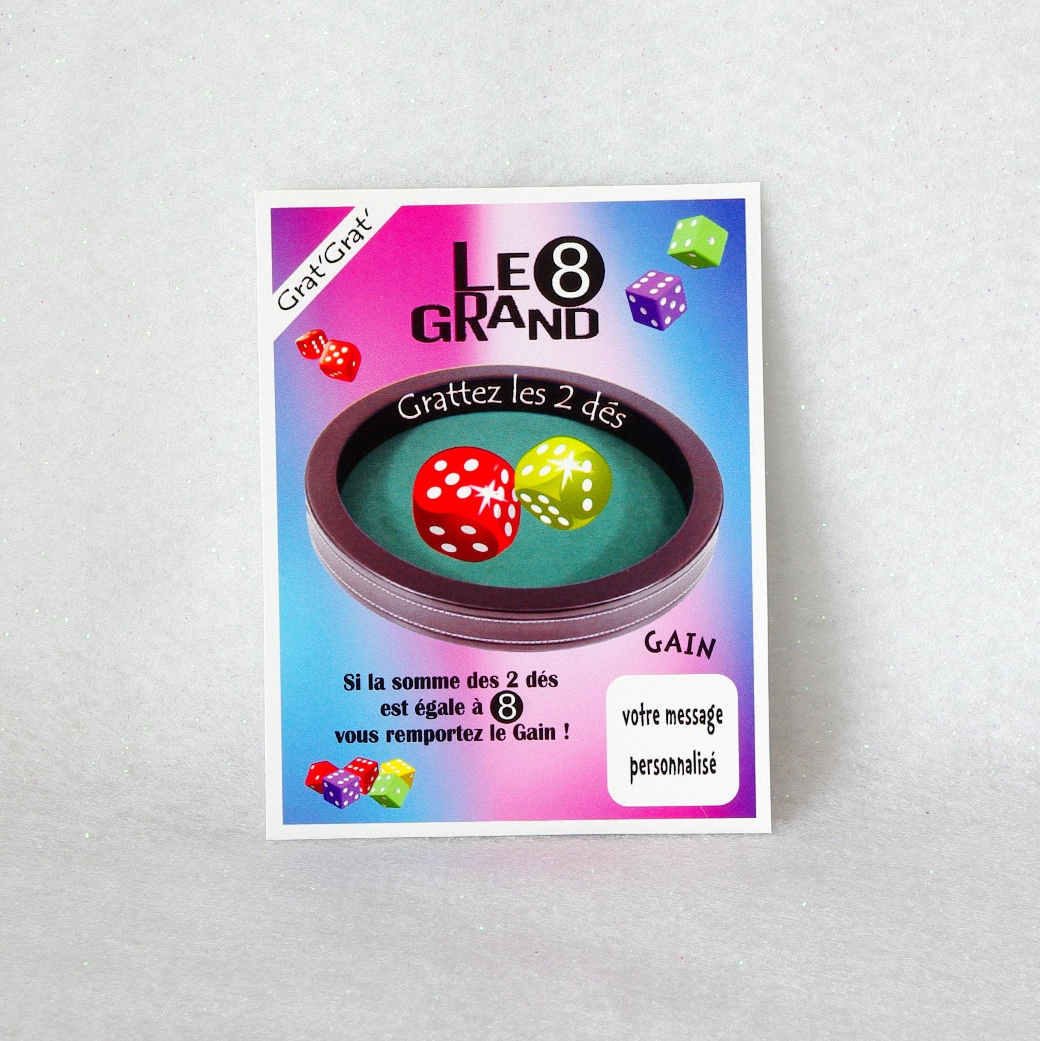 Turbo GRAND8 1 CARTE jeu à gratter personnalisé mariage témoin FY46