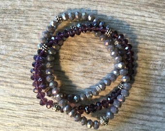 Sparkle It Up!!! Czech Bracelets with Silver and Crystal Accents