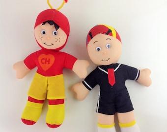 "15"" El Chapulin Colorado and Kiko Plush Plushes Toys El Chapulin Stuffed Dolls La Vecindad del Chavo"