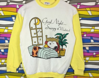 Rare!! SNOOPY Sweatshirt Big Logo