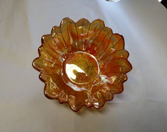 Vintage Carnival Sunflower Bowl