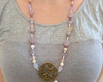 Necklace beads My little bird by Manaka.lab