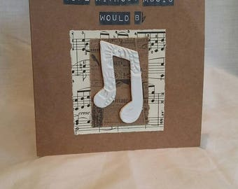 Music notes Greeings Card