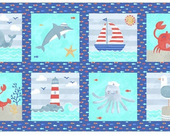 Sail Away Fabric Panel