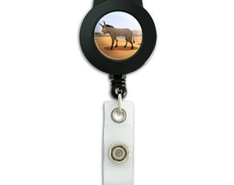 Donkey on ranch lanyard retractable reel badge id card holder
