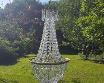 Large unusual vintage French empire chandelier (G9)