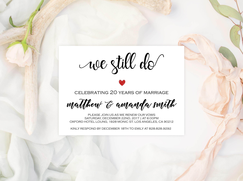 we still do invitations vow renewal invitation template