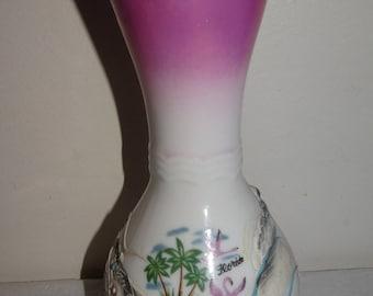 Vintage Sun Japan Dragonware Florida Souvenir Ceramic Vase