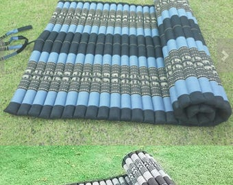 Size 42 x 79 Inches. Thai Roll Up Mat Mattress Cushion Day Bed Camping Handmade