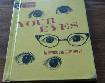 "Vintage Educational Book/1962/""Your Eyes""/ Vintage illustrations/CLEARANCE"