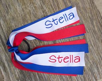 4th of July Ponytail Streamer - Name Custom Ponytail Streamer  - July 4th