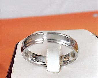Summer Sale Hawaiian Stainless Steel Ring With Clear CZ