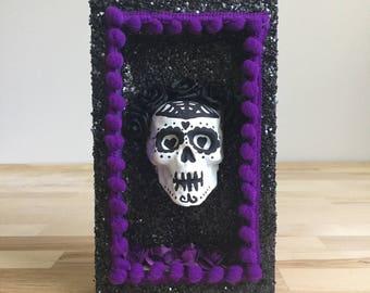 Mixed Media Nicho, Miniature, Frida Kahlo Inspired