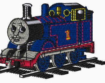 4x4 Embroidery File: Thomas and Friends, Choose Your Size and Format