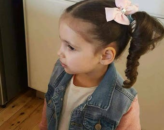 Girls hair bows on clips