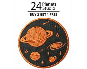 Saturn#4 Planet Iron on Patch by 24PlanetsStudio