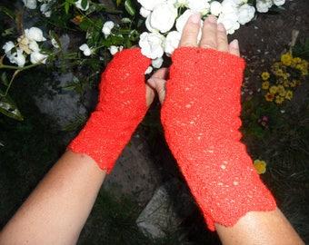 beautiful fingerless gloves lace pattern