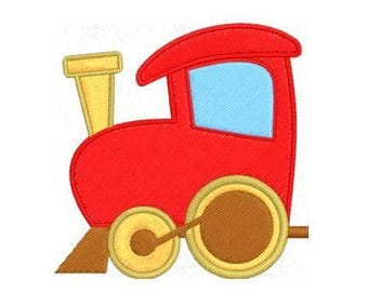 Baby Train Embroidery Design, Quilt Little Boy Embroidery Design, 4x4 Hoop MULTIPLE FORMATS Download