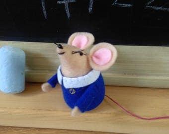 Gift for teachers, School jumpers, Mice, Felt mice, Gifts, Cute, Mice in school jumpers