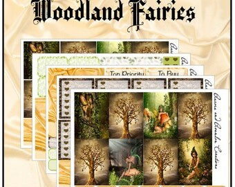 Woodland Fairies weekly kit for Erin Condren and Happy Planner