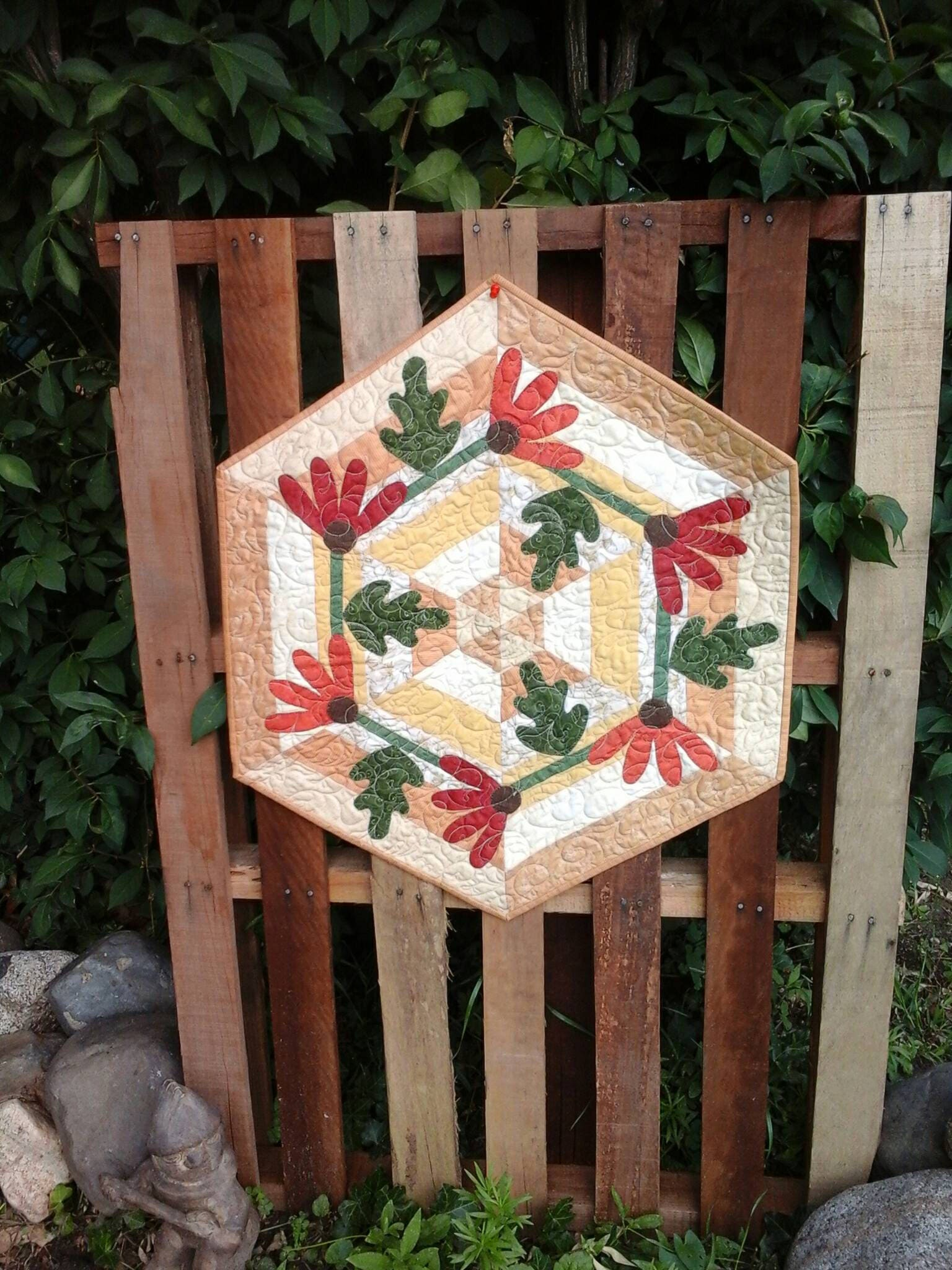 Thanksgiving table centerpiece quilted kitchen topper homemade