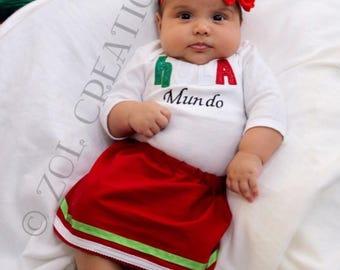 Hola baby outfit etsy hola mundo bilingual baby spanish baby shower gift newborn outfit personalized negle Images